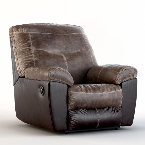 Follett Two-Tone Faux Leather Rocker Recliner by Signature Design by Ashley